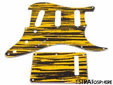 *NEW Tiger Stripe Stratocaster PICKGUARD & TREMOLO COVER for Standard Strat 3Ply