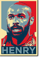 THIERRY HENRY ART PHOTO PRINT (OBAMA HOPE) POSTER GIFT TIERRY TIHERRY
