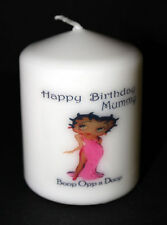 Betty Boop Pink Birthday novelty candle personalised keepsake gift by cellini #1
