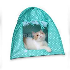 Portable Outdoor Pet Kennel Tent Cat House Pet Sun Shelter House Tent Green