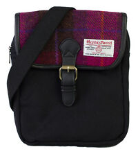 Authentic Harris Tweed Crossover Compact Bag - Cerise Pink HC036