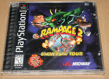 RAMPAGE 2: UNIVERSAL TOUR PS1 1998 RARE NEW FACTORY SEALED