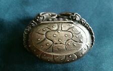 antique figural crab sterling silver match safe or pill box
