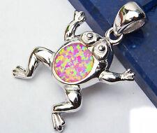 """Pink Australian Opal .925 Sterling Silver Pendant 1.25"""""""
