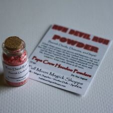 Run Devil Run Hoodoo Powder Repel Demons Devils Satan Stop Ills Corked Bottle