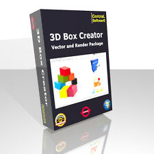 3D BOX IMAGE CREATOR SOFTWARE RENDER VECTOR CREATION UNIQUE ON EBAY