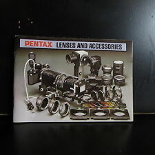 Pentax K Lenses & Accessories Photo Guide 1971 61 pges English O402031
