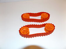 2 NEW lego red technic mindstorm robotics tank tracks/treads w/ orange hubs