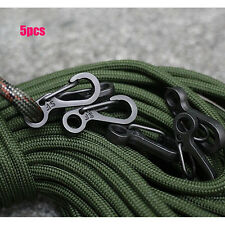 New 5 Pcs Outdoor EDC Carabiner Snap Spring Clips Hook Survival Keychain Tool