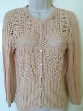 Mango Beige Cardigan Sweater Jumper Embroidered Top Size M, Uk10 Zara Group