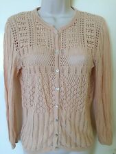Mango Cardigan Sweater Jumper bordado en la parte superior de color beige talla M, Uk10 grupo zara