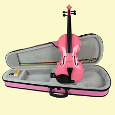 4/4 VIOLIN FULL SIZE PINK VIOLIN,PINK BOW, WOOD FITTED CASE +VIOLIN BOW +ROSIN
