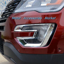 New Chrome Front Fog Light Cover Trim For Ford Explorer 2016 2017