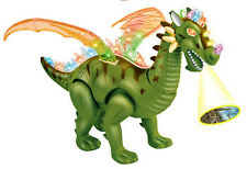 Walking Dinosaur Toy Figure with Lights&Sounds Movement Green 37*27*23CM