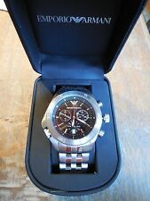 NWT EMPORIO ARMANI MEN'S LUXURY SPORT CHRONOGRAPH WATCH AR0546 $375 +
