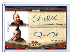TNA Jesse Neal Shannon Moore Ink Inc 2010 Icons Silver Dual Autograph Card