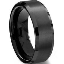 6MM Stainless Steel Ring Band Titanium Pure Solid Brushed Wedding Ring