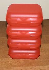 Tupperware SMALL Packables Containers SET OF 4 Oyster HINGED Organize GUAVA