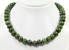 Sehr schöne Edelsteinkette aus Nephrite Jade in Radform