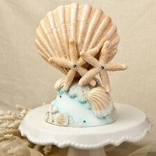 Playa temática Boda Shell y estrellas de mar Cake Topper SF