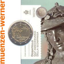 Sondermünzen San Marino: 2 Euro Münze 2016 Donatello Sondermünze Gedenkmünze