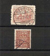 POLONIA 1925-1928, Cracovia, minicollezione 2v usati (pha035)