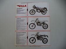 advertising Pubblicità 1982 MOTO VILLA 125 SEBRING/125 MC 82/250 SME ARGENTA
