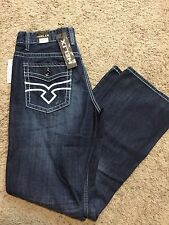 NWT HELIX Men's Relaxed Bootcut Leg Blue Jeans SIZE 32x32 MSRP $50