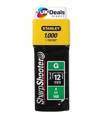 "Stanley 1-TRA708T 1000 x Heavy Duty Staples 12mm 1/2"" TRA708 Sharpshooter Type G"