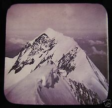 Glass Magic Lantern Slide MOUNTAINS NO2 C1890 POSSIBLY MONT BLANC AREA FRANCE