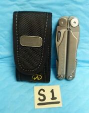 USED LEATHERMAN WAVE ONE LINE & NYLON SHEATH MULTI UTILITY FOLDING TOOL B13-S1
