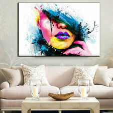 Modern Art Oil Paintings Abstract Beauty Woman Face on Canvas Art Unframed