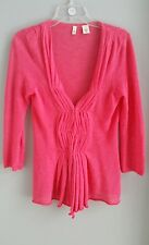 Moth anthropologie womens coral pink cardigan sweater sz S