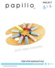 "5 Papilio Inkjet Waterproof Matte White Vinyl D Paper, 8.5""x11"", WVF8511, 3 ml"
