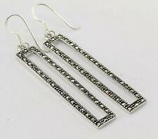 MARCASITE EARRINGS 925 STERLING SILVER ARTISAN JEWELRY COLLECTION R700A