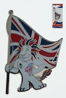 Team GB London 2012 Metal Magnet Pride Lion Standing With Flag Souvenir Olympic