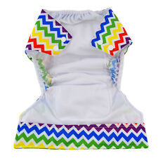Alva AIO pocket diaper nappy +1sewed-in insert AIO-YA37  printed COLOR WAVES
