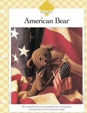 "Old Fashioned 12"" AMERICAN BEAR Crochet Single Pattern Vanna White 1995"