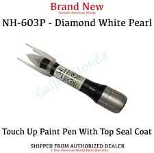 Genuine OEM Honda 2 Part Touch Up Paint Pen - NH-603P Diamond White Pearl