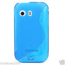 Pellicola + Custodia cover case WAVE BLU per Samsung Galaxy Y S5360 Gel Gomma