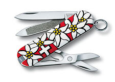 VICTORINOX Edelweiss NEU/OVP Classic Taschenmesser m. Etui Messer Swiss Knife
