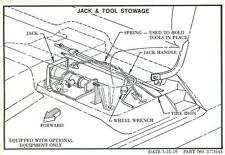 1960  61 62 63 64 65 66  CHEVY  TRUCK  JACK & TOOL  STOWAGE  DECAL