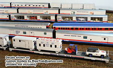 American Freedom Train N Scale Decals for all 26 Cars of the Train