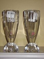 """Waterford Marquis Crystal Pair of Glacier 7"""" Candlestick Vases Collectible NEW"""