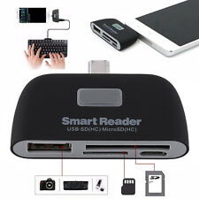 NEW 4in1 OTG Micro SD Smart Reader Memory Card USB Reader Keyboard HUB Adapter