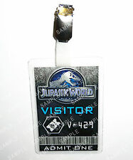 Jurassic World ID Badge Visitor Ingen Cosplay Prop Costume Fancy Dress Christmas