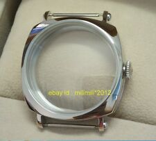 44MM polishing 316 stainless steel watch case Suitable for ETA6497 6498 movement