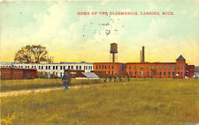 Lansing MI Home of The Oldsmobile Auto, in 1911 Postcard