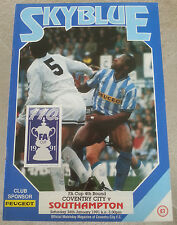 Coventry City v Southampton FA Cup 4th Round 26th January 1991