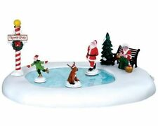 "TRAIN GARDEN VILLAGE HOUSE "" SANTA'S OWN ICE SKATING POND "" +DEPT 56/LEMAX info!"